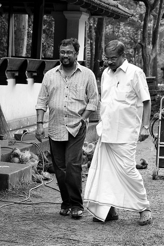 Neelathamara Shooting Location - MT with Lal Jose at Malamakkavu - Kudallur